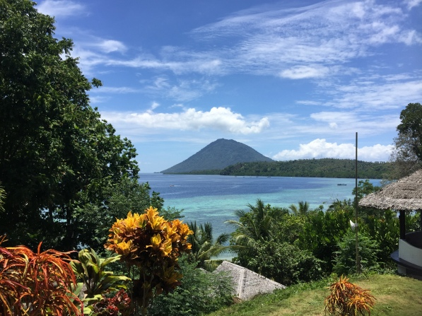 Volcano of Bunaken beach view
